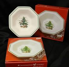 "Nikko Christmastime Vegetable Bowls 9"" Lot of 2 - $63.69"