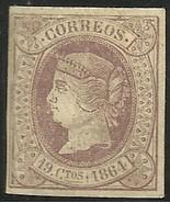 Spain 1864 Scott# 64 MH - $115.50
