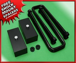 "Rear Lift Kit 3"" Blocks For 99-07 Sierra Silverado 1500 8-Lug 4x2 4x4 Ov... - $85.00"