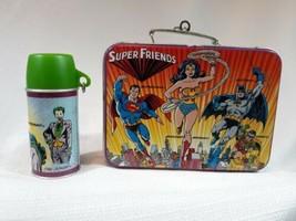 Super Friends Lunch Box Set of 2 - Ornament 1999 Wonder Woman Superman Batman  - $10.40