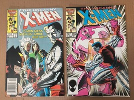 Uncanny X-Men 1st Series #209 210 1986 Marvel Comic Book Lot VF+ Conditi... - $11.69
