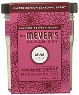 Mrs. Meyers Clean Day Scented Soy Candle, Mum Scent, 4.9 Ounce Candle - $15.35