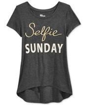Epic Threads Selfie Sunday Graphic-Print T-Shirt, Big Girls, SIZE LARGE - $15.08
