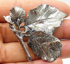 DANECRAFT 925 Silver - Vintage Autumn Leaves On A Branch Brooch Pin - BP2717 - $49.84