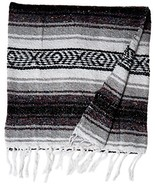 KAYSO Authentic 6' x 5' Mexican Siesta Blanket (Grey) - $8.88
