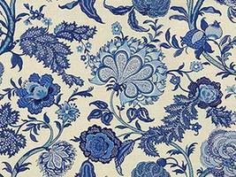 1.875 yds Kravet Upholstery Fabric Somerset Floral Print Seaside Blue DQ - $178.13