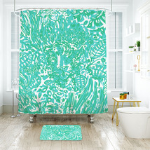 Lilly Bungle In The Jungle Shower Curtain Waterproof & Bath Mat For Bathroom - $15.30+