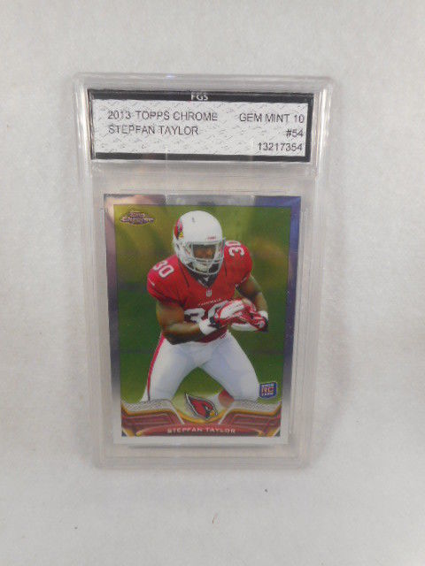 2013 Topps Chrome #54 Stepfan Taylor Rookie Refractor FGS Graded Gem MT 10