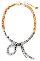 Juicy Couture Necklace Deco Crystal Bow NEW $128 - $56.12