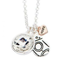 Disney Star Wars HOPE BB8 with Clear Gem Pendant with Chain - $32.20