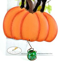Happy Halloween Black Cat & Pumpkin Bouncy Garden Hanging Sign Home Decor image 3