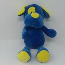 Beverly Hills Teddy Bear Co Plush Blue Dog Puppy Yellow Spots RATTLES Baby  - $12.16