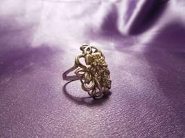 Vintage Sterling Silver Diamond Flowers Cherry Blossom Ring - $64.35