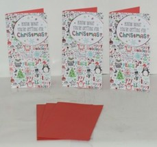 Hallmark XMH 418 1 Holiday Fun Christmas Gift Card Holder Package 3 image 1