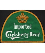 Vintage uniform patch CARLSBERG IMPORTED BEER crown pic new old stock n-... - $7.99