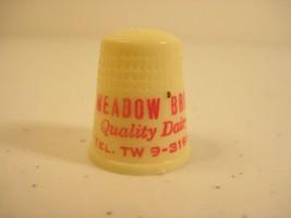 Meadow Brook Dairy Erie Pennsylvania 1950s Plastic Advertising Thimble - $6.99