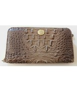 Brahmin Brown Croco Leather Fullsize Zip Around Wallet - $110.49