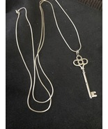 """30"""" Sterling Silver Necklace and Key Pendant  - $40.00"""