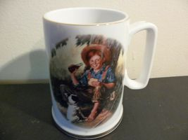 Coca-Cola Mug Norman Rockwell Art, The Barefoot Boy, Commemorative Edition - $20.00