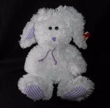 2007 TY MAYFAIR WHITE PURPLE EASTER BUNNY RABBIT STUFFED ANIMAL PLUSH TO... - $14.03