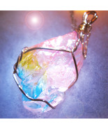 Haunted CRYSTAL NECKLACE 27X SPIRIT CALLER ENHANCE COMMUNICATION MAGICK ... - $28.77