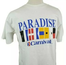 Vintage Carnival Cruise Paradise T-Shirt Large S/S Crew Cotton Single St... - $16.99