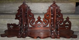 "Antique? VINTAGE Victorian GINGERBREAD DARK WOOD WALL SHELF 29"" L x 13"" ... - $299.99"