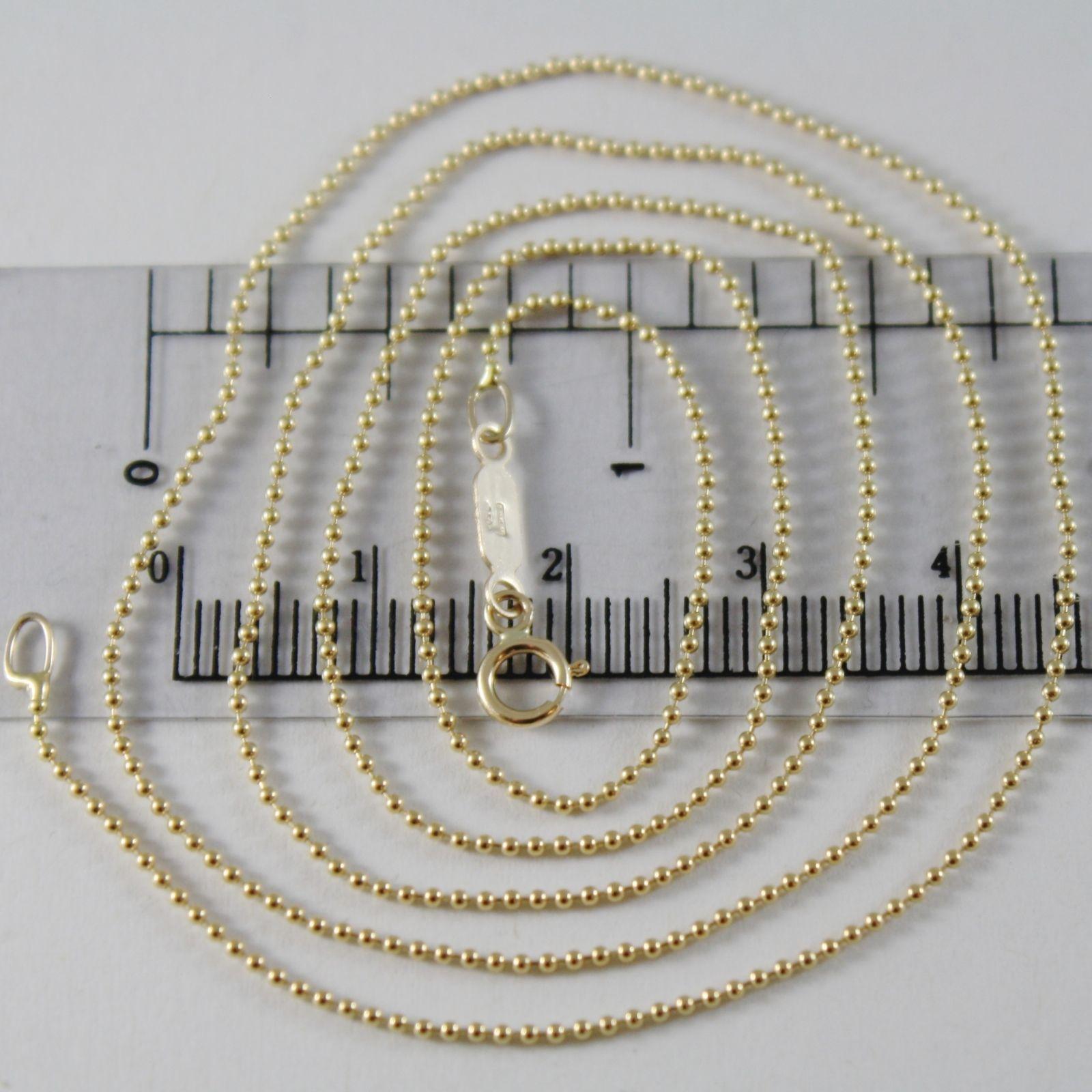 CADENA ORO AMARILLO 750 18 CT MINI BOLAS LÚCIDO LARGO 40 45 50 60 CM ESPESOR 1