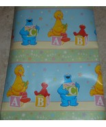 Sesame Street ABC Block Baby Shower Gift Wrapping Paper 12.5 Sq Ft Roll - $7.00