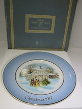 1977 Avon Christmas Plate Series Fifth Edition Carollers in the Snow in ... - $16.83