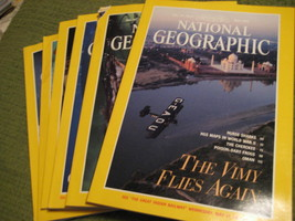 Original Vintage 1995 Lot of 6 NATIONAL GEOGRAPHIC Magazines - $14.43