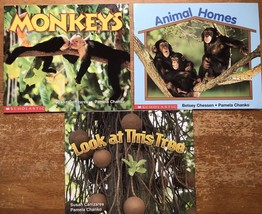 Lot 3 Paperback Books Science Vocabulary Readers Scholastic Animal and T... - $9.94