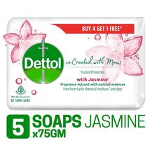 Dettol Co-created with moms Jasmine Bathing Soap, 75gm (Pack of 5)  - $15.00