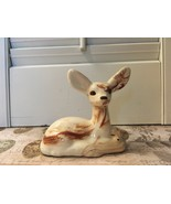 Vintage big eared deer with fawn figurine Collectible Forest Animal swir... - $8.50