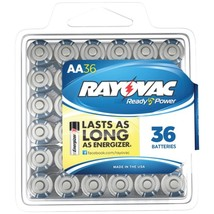 RAYOVAC 815-36PPF Alkaline Batteries Reclosable Pro Pack (AA, 36 pk) - $35.86