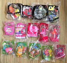 14 New McDonalds Happy Meal Toys • 2011 - 2015 Sponge Bob Moshi Monsters Barbie - $24.70