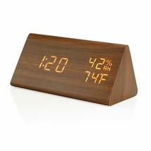 Nice! Eco Friendly Clock Digital Alarm Voice Control Temperature Humidity - $49.95