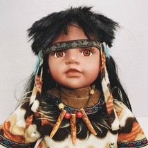 """Cathay Collection Native American Indian Boy Doll 22"""" Limited 309/3000 - $98.01"""