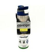 Contigo AUTOSEAL Chill Stainless Steel Water Bottle 24 oz SS Monaco Blue Lid - $15.88