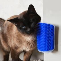 Cats Massage Corner Brush Self Groomer Comb With Catnip High Quality Hac... - $8.11