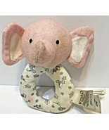 Precious Firsts by Carter Pink and White Elephant Rattle Ring Plush Baby  - $12.60