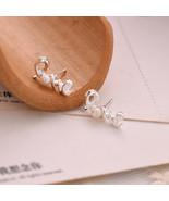 Jewelry, Simple Pearl Stud Earrings Gold Plated Love Letter Pearl Earrings - $3.99