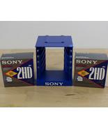 """Lot of 20 Sony MFD-2HD 3.5"""" Floppy Disks & Blue Sony Floppy Disk Holder - $29.69"""