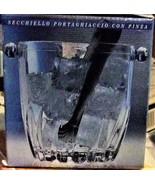 Moncayo Verecovetro Mini Ice Bucket 5x5 **with Tongs ** Made in Italy - $20.00