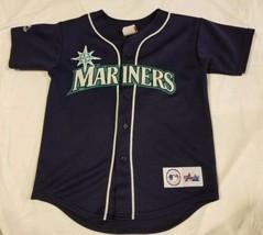 Vintage Made In USA Seattle Mariners Jersey Stitched Majestic MLB Baseba... - $48.99