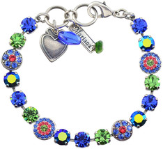 Mariana 'Oasis' Round Jewel Tennis Bracelet, Silver Plated, 8' 4044 432 - $492.88
