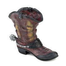 Patio Garden Planter, Dallas Cowboys Planter, Small Resin Cowboy Boot Pl... - $26.03