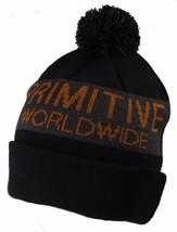 Primitive Apparel Black Pom Beanie Hat NWT