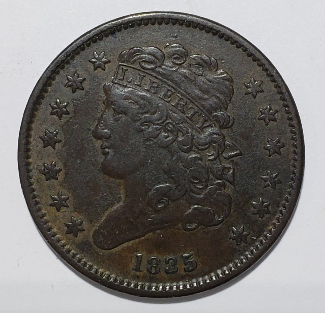 1835 Bust Half Cent 1/2 Coin Lot # 818-71