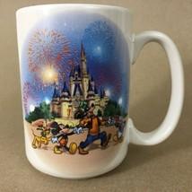 Walt Disney Park Magic Kingdom 2000 Mugs Goofy Donald Mickey Cinderella Castle - $10.84